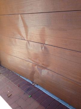 Broken Wood Grain Look Garage Roller Door