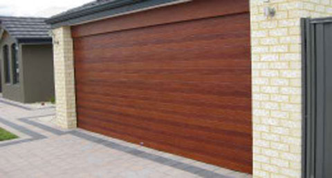 Wood Grain Look Garage Door